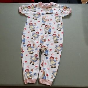 Raggedy Ann & Andy one piece outfit sz 24 mths